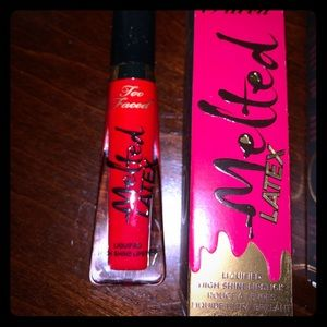 "Too faced melted red lipstick""gloss"" brand new"